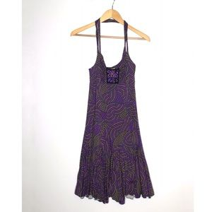 FREE PEOPLE Purple Swingy Summer Cocktail Dress L